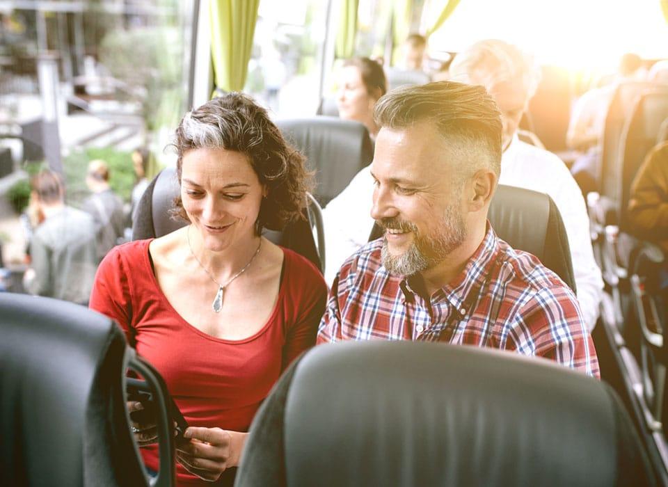 Bernafon Viron Hearing Aids Couple Bus